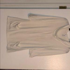 white shear sweater